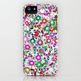 Vivid floral pattern 4181A iPhone Case