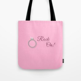 Rock On! Engagement Announcement Tote Bag