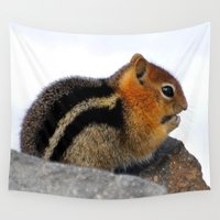 furry Wall Tapestries featuring Furry Friend by Teresa Chipperfield Studios
