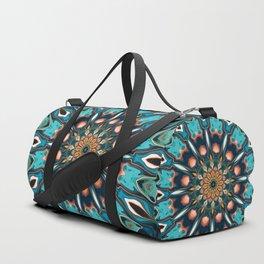 Abstract Turquoise Mandala Duffle Bag
