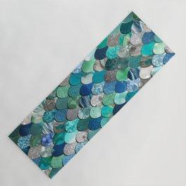 Mermaid Pattern, Sea,Teal, Mint, Aqua, Blue Yoga Mat
