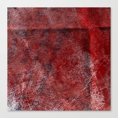red watercolor Canvas Print