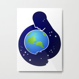 Care for the Earth Metal Print