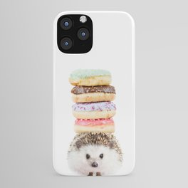 Hedgehog Donuts iPhone Case