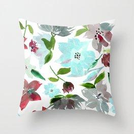 Sea Breeze Aqua Throw Pillow