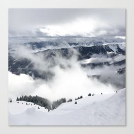 Winter Mountainscape Canvas Print