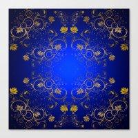 floral pattern Canvas Prints featuring Floral Pattern by Looly Elzayat