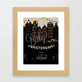 Baby went to Amsterdam Framed Art Print
