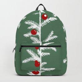 Scandinavian winter forest Backpack
