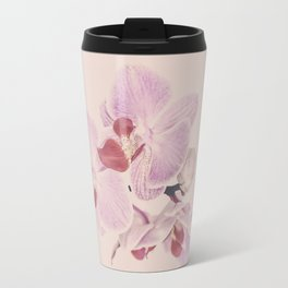Matte Pink Orchid Flower Travel Mug