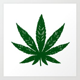 marijuana leaf Art Print
