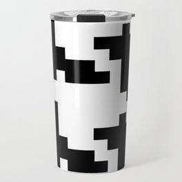 Black White Houndstooth Travel Mug