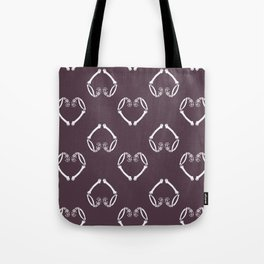 Skeleton Heart Tote Bag