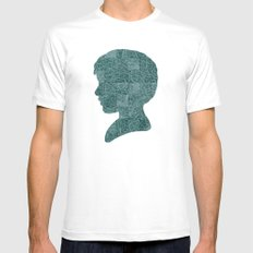 Boy Silhouette MEDIUM White Mens Fitted Tee
