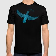 Come fly with me MEDIUM Mens Fitted Tee Black