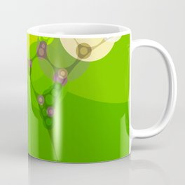 veronica - bright abstract of lime grass green and warm gold yellow Coffee Mug