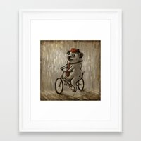 dogs Framed Art Prints featuring Dogs by Ronan Lynam