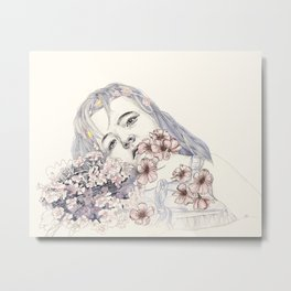 little bridesmaid Metal Print