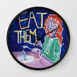 Eat Them Wall Clock