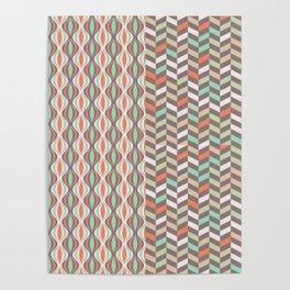 Bicolore Vintage Pattern Poster