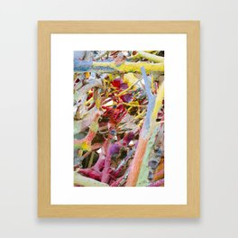 Colors of Salvation Mountain Framed Art Print