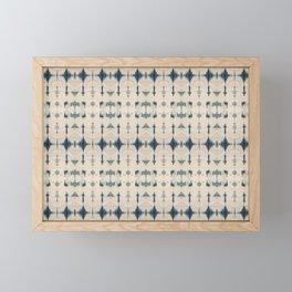 Shibori Soundwaves Framed Mini Art Print