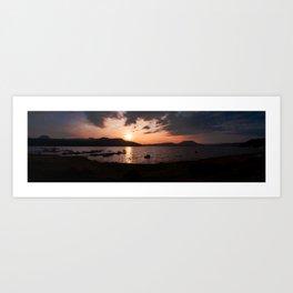 Panoramic of Valle de Bravo's lake. Art Print
