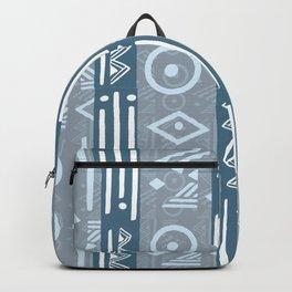 Polynesian  Blue Beach Print Backpack