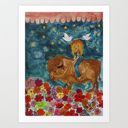 bison dreamland Art Print