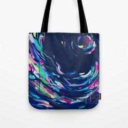 Night Swim - Abstract Painting #society6 Tote Bag
