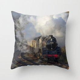 Steam locomotive 73156 Portrait Throw Pillow