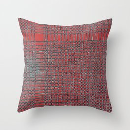 Left - Red and turquoise Throw Pillow