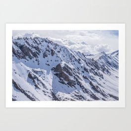 Mountains with snow Art Print