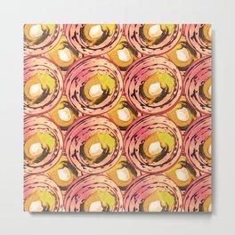 Circle pinks and carmel number 11 Metal Print