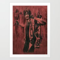 daryl dixon Art Prints featuring Daryl Dixon by ArtCandy Studio