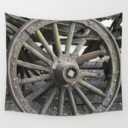 Raw Chariot Wheel Wall Tapestry