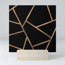Black and Gold Fragments - Geometric Design Mini Art Print