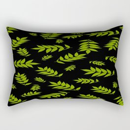 Falling Ash Leaves At Dusk Rectangular Pillow
