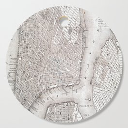 Vintage New York City Map Cutting Board