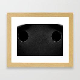 The Sad Holes Framed Art Print