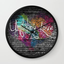 Unfailing Love Wall Clock