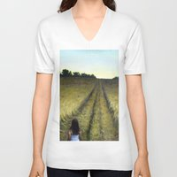 wander V-neck T-shirts featuring Wander by Michael Paige Glover