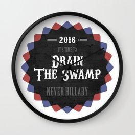 Drain The Swamp Wall Clock