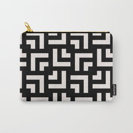 Bold geometric pattern - Stripe Tile Carry-All Pouch