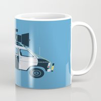 blues brothers Mugs featuring The Blues Brothers' Van by Brandon Ortwein