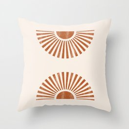 Reflected Sun Rays Throw Pillow