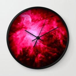 Magenta Pink Orion Nebula Wall Clock