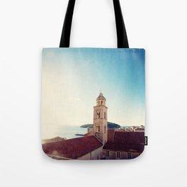 View of the Sea in Dubrovnik Croatia Tote Bag