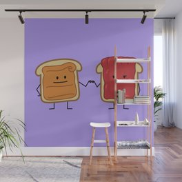 Peanut Butter and Jelly Fist Bump Wall Mural