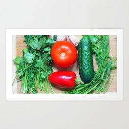 Still life with vegetables. Art Print